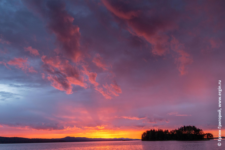 Лиекса закат над озером