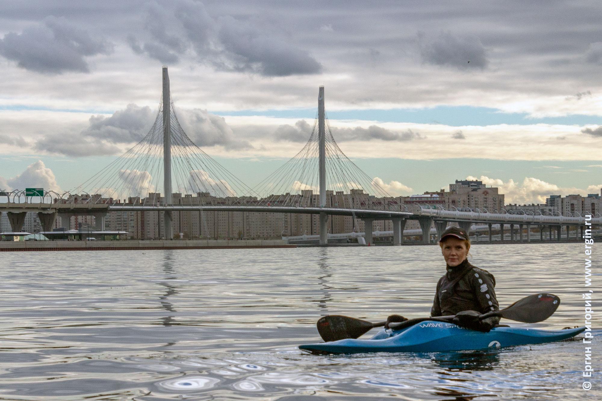 Мост ЗСД каякер на воде