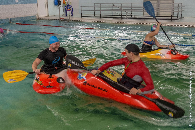 Каякинг тренировка занятия с тренером каяком веслом