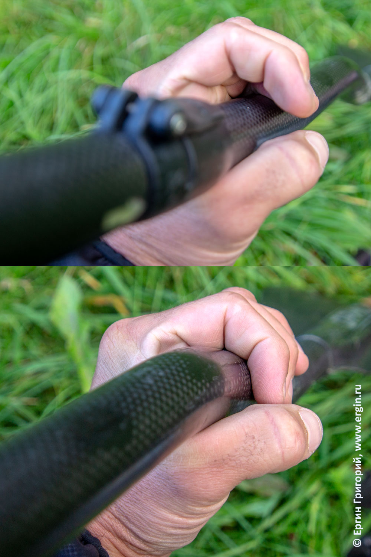 Эргономика положения руки на шафте весла для каякинга прямого и изогнутого коленвала