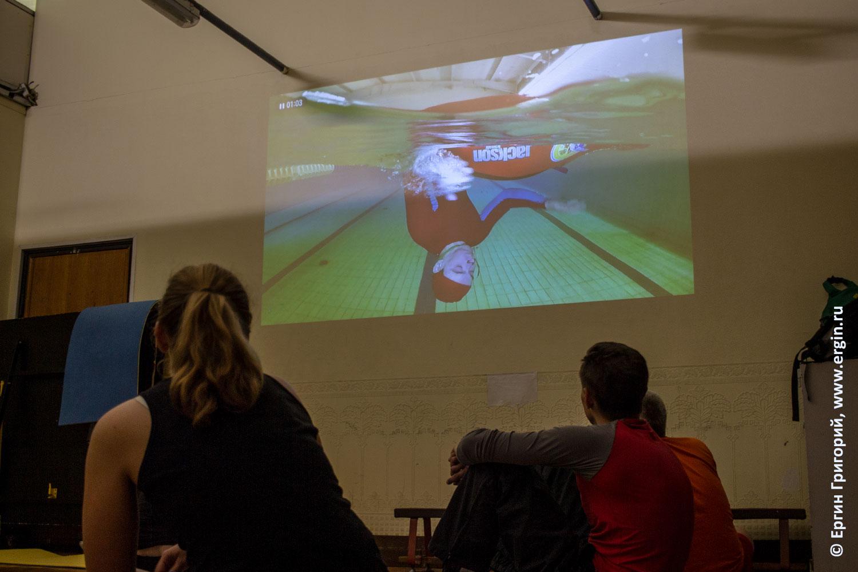 Эскимосский переворот на каяке просмотр видео при помощи проектора для наглядного показа теории