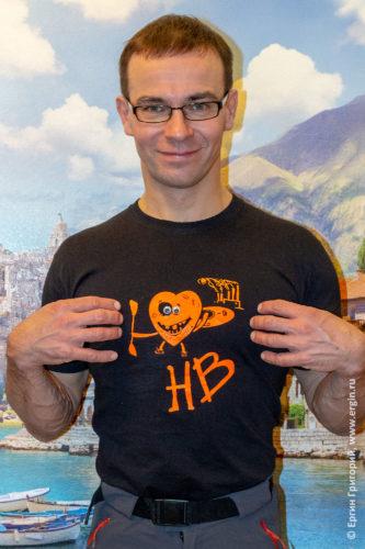 Фтуболка с изображением плейспота для фристайл-каякинга Хохлобочка у Змиевской ТЭЦ в Украине