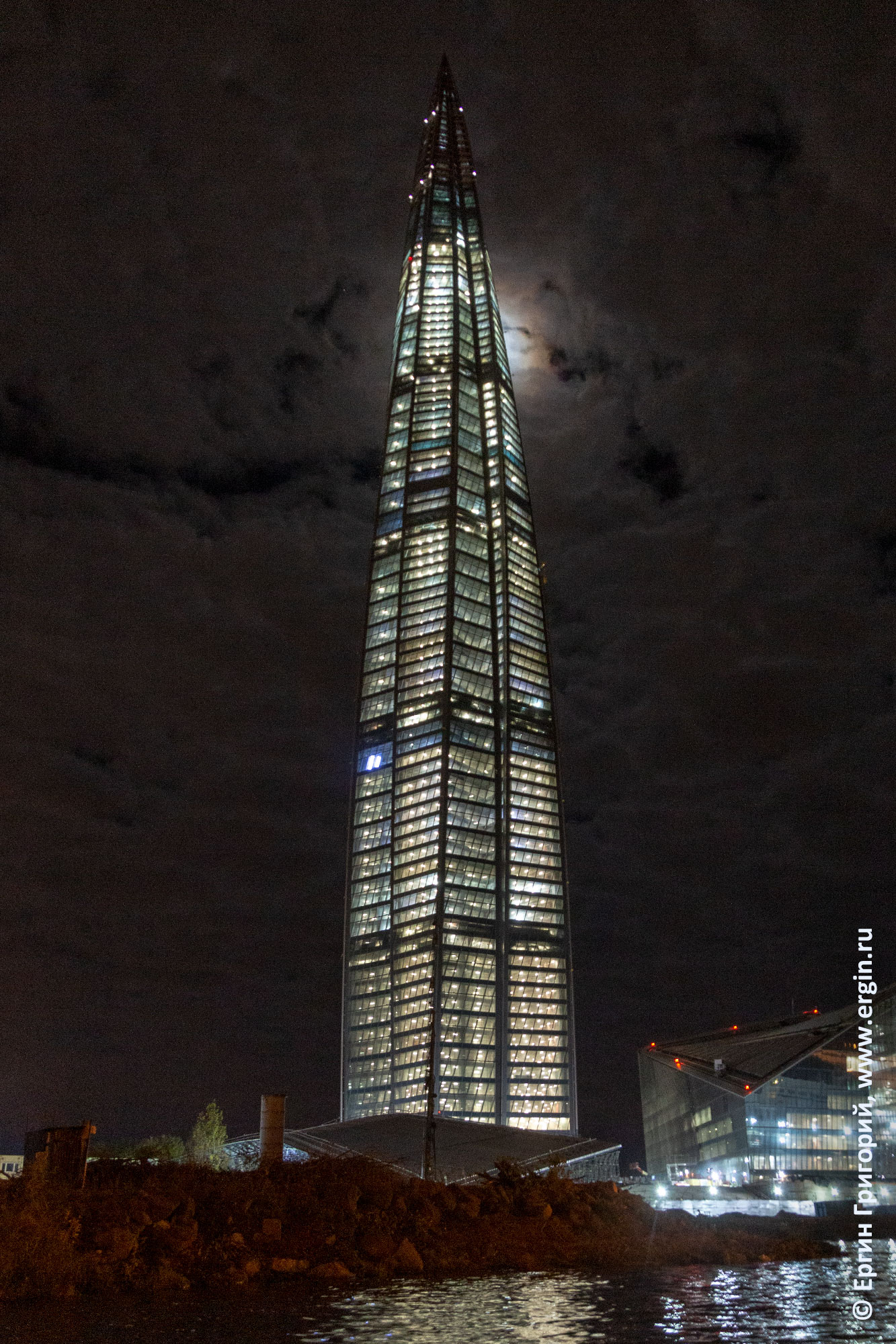 Питер Луна башня Газпрома
