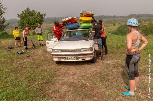 Уганда такси для каякеров