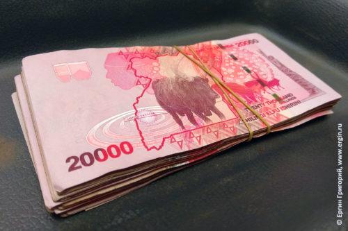 Угандийские шиллинги пачка денег Уганды