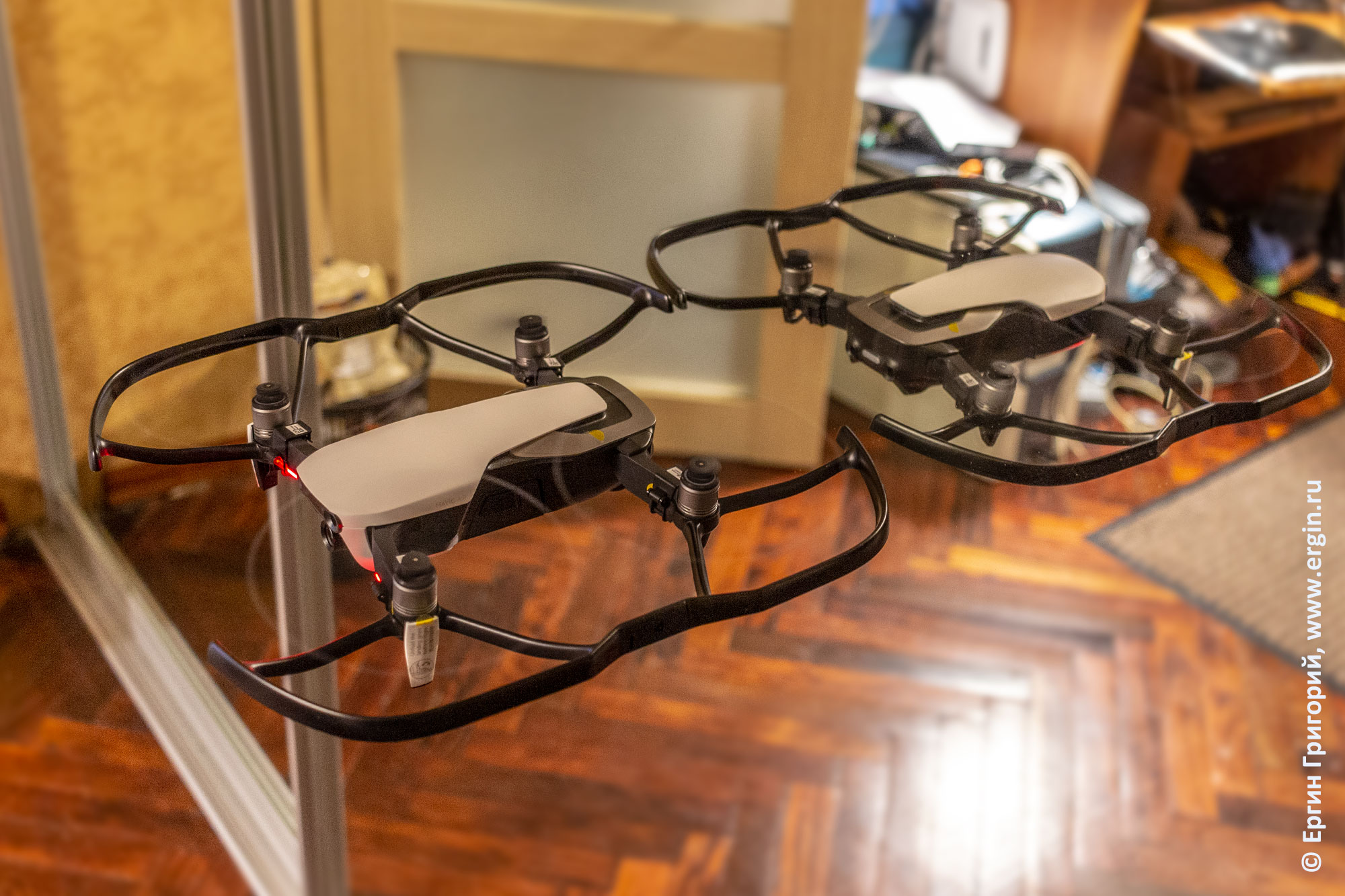 Квадрокоптер дрон DJI Mavic Air уперся в зеркало не разглядел препятствие проблема