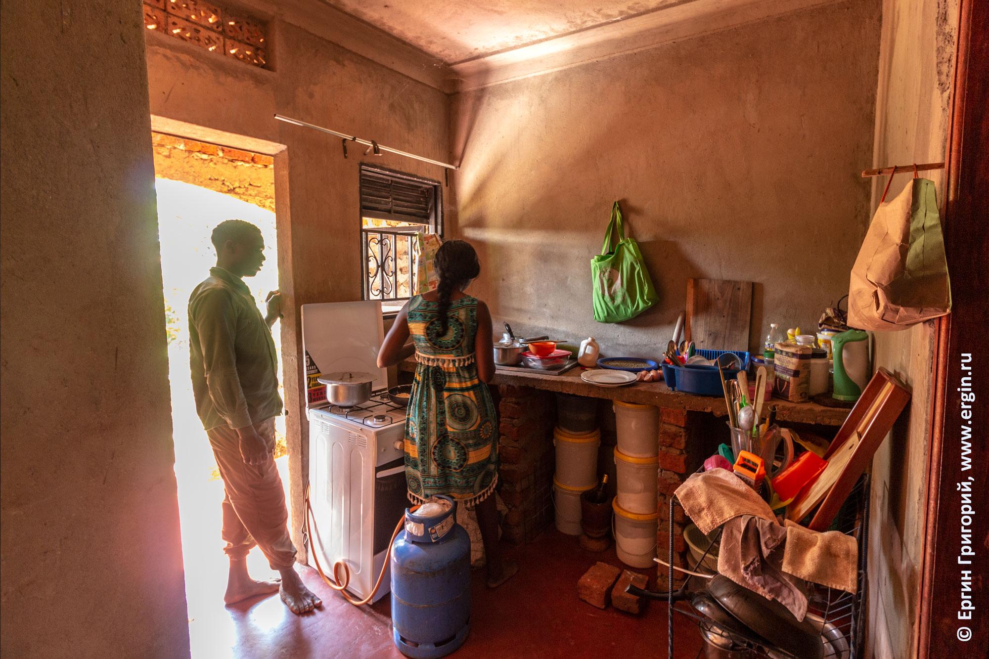 Кухня в доме Аниты Уганда Африка