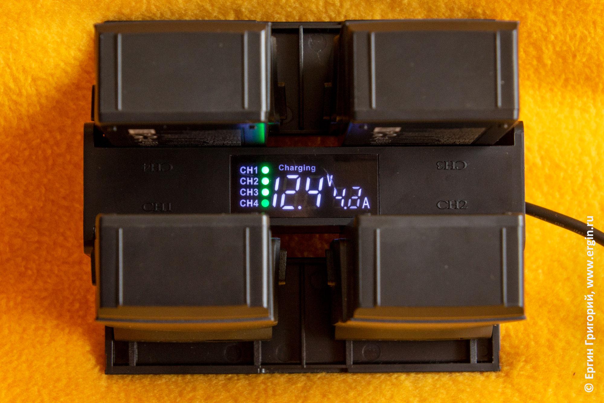 Зарядный хаб DJI Mavic Air  цифровое табло и анализатор тестер аккумуляторов
