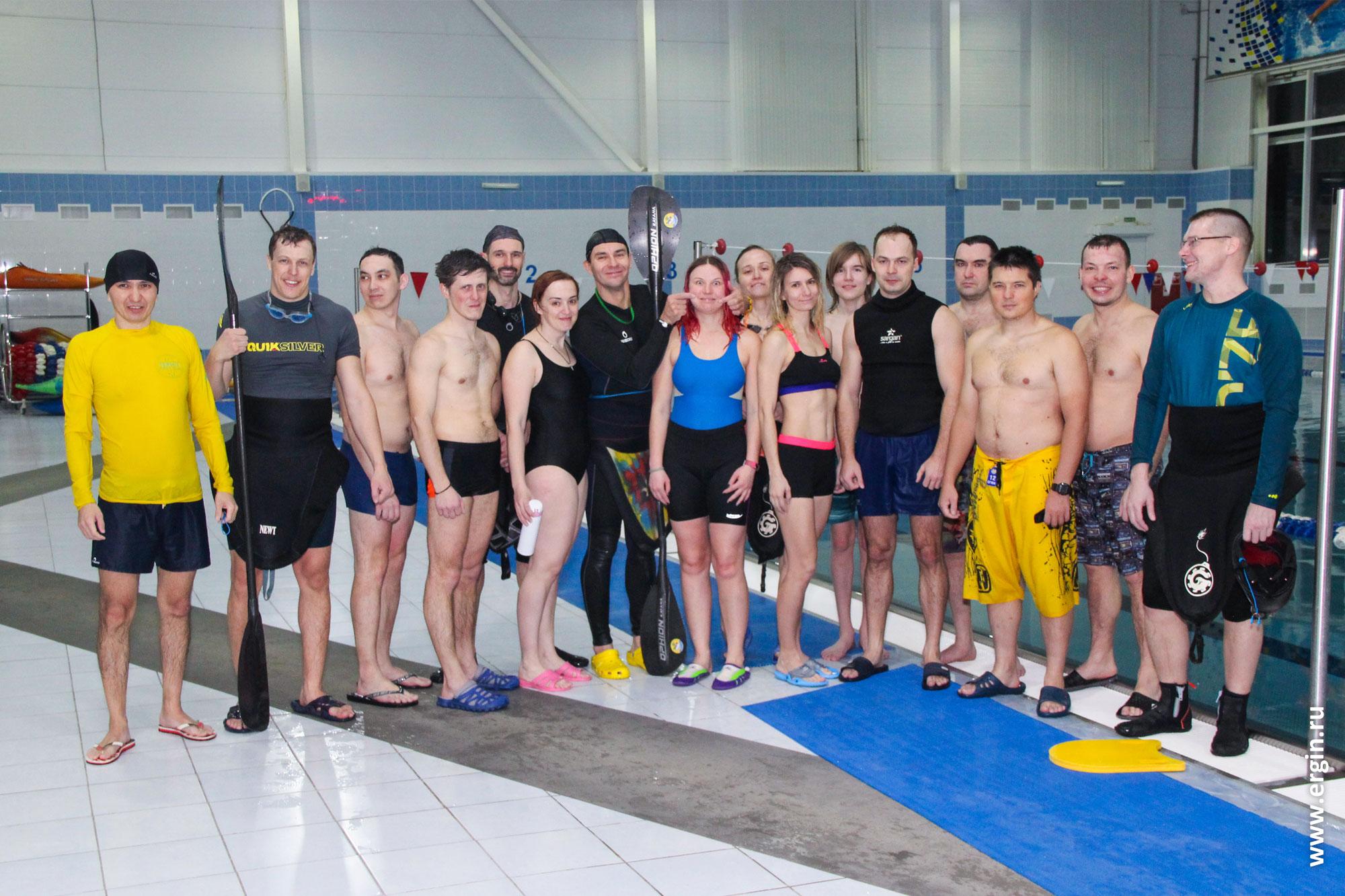 Выездное обучение каякингу в бассейне Саратова