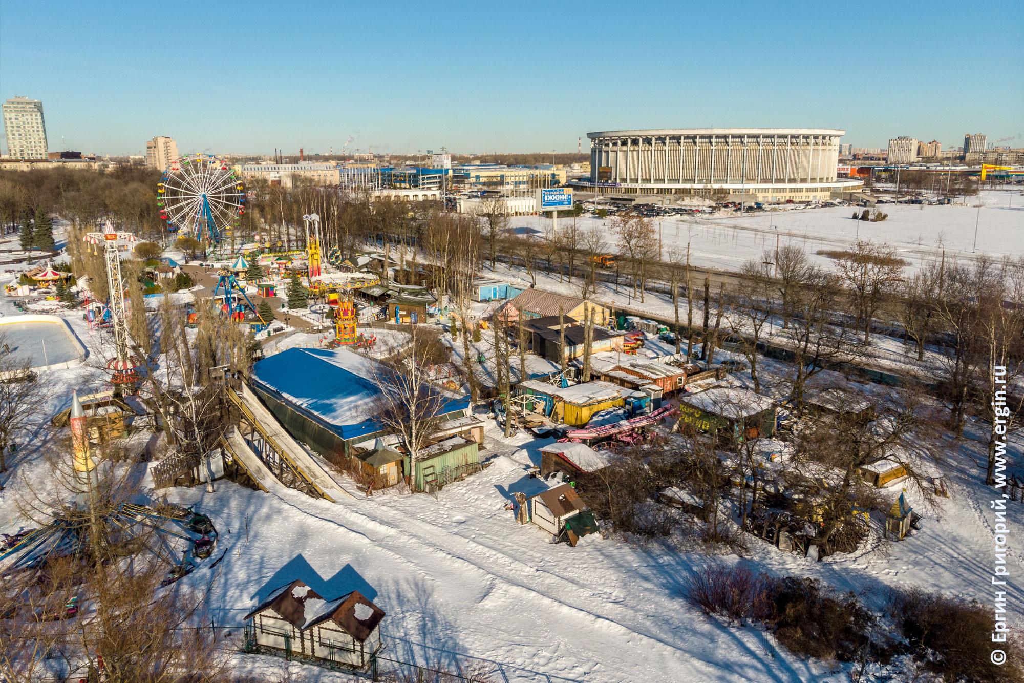 Парк Победы Санкт-Петербург Гагарин парк съемка с квадрокоптера