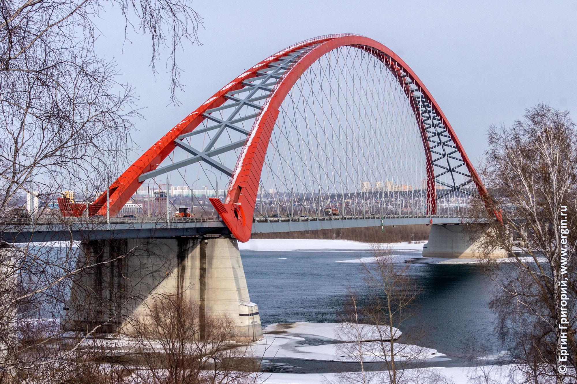 Бугринский мост через Обь в Новосибирске