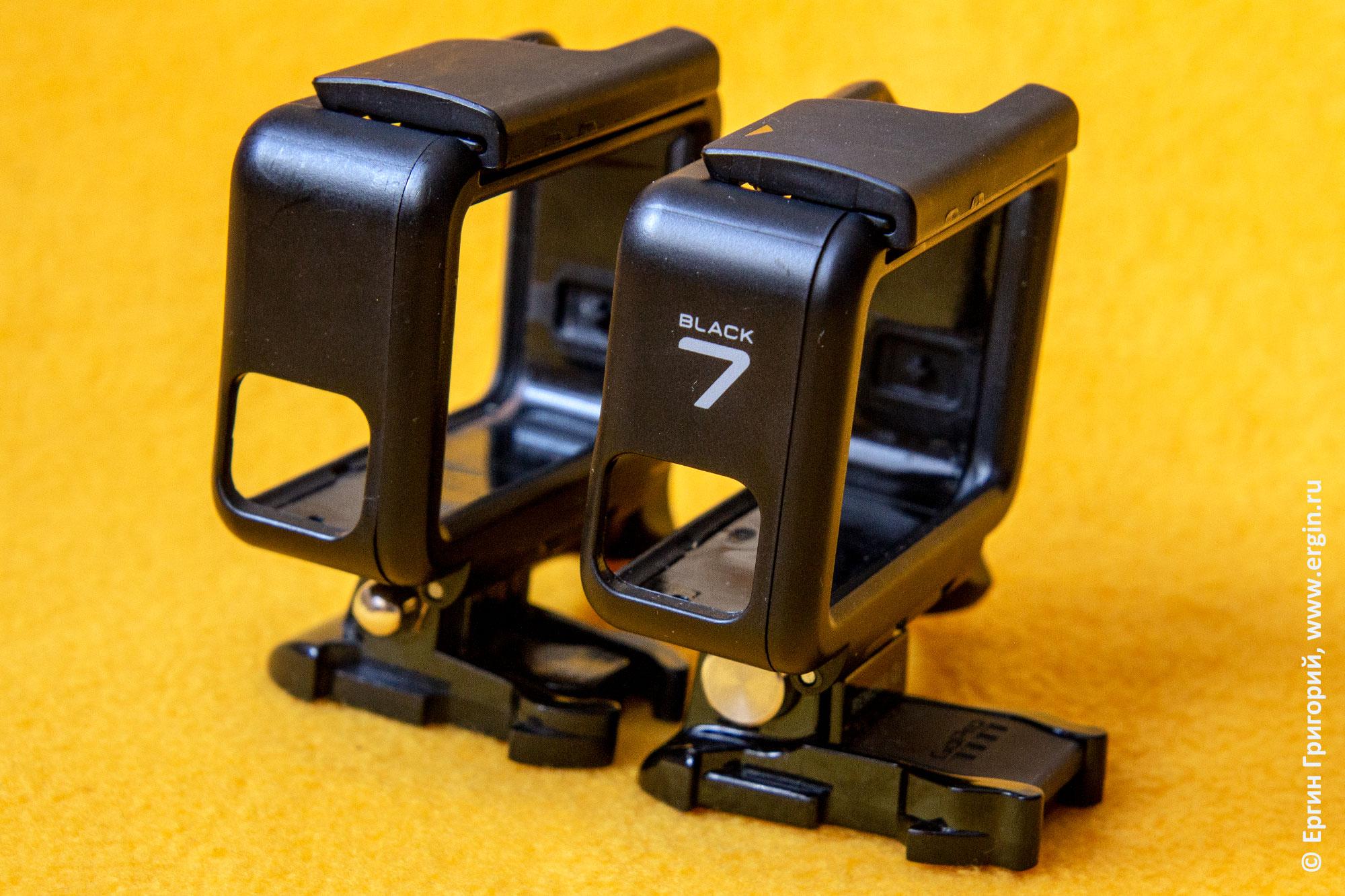 GoPro Hero 7 крепежная рамка отличия от 5