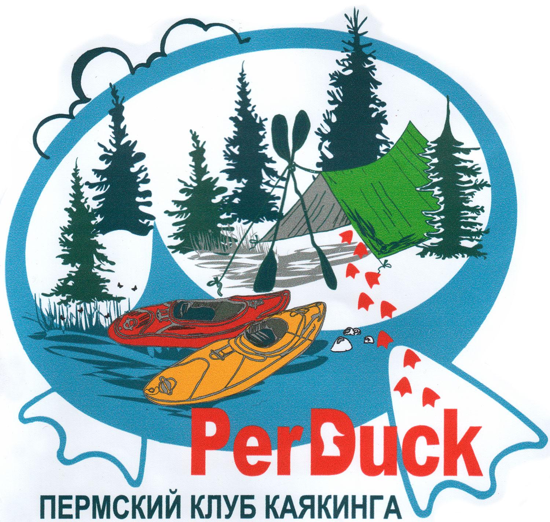 Пермский клуб каякинга - наклейка с логотипом