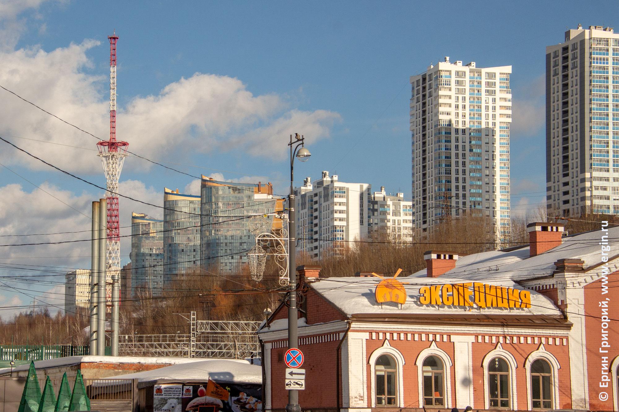 Пермь вид на город у речного вокзала