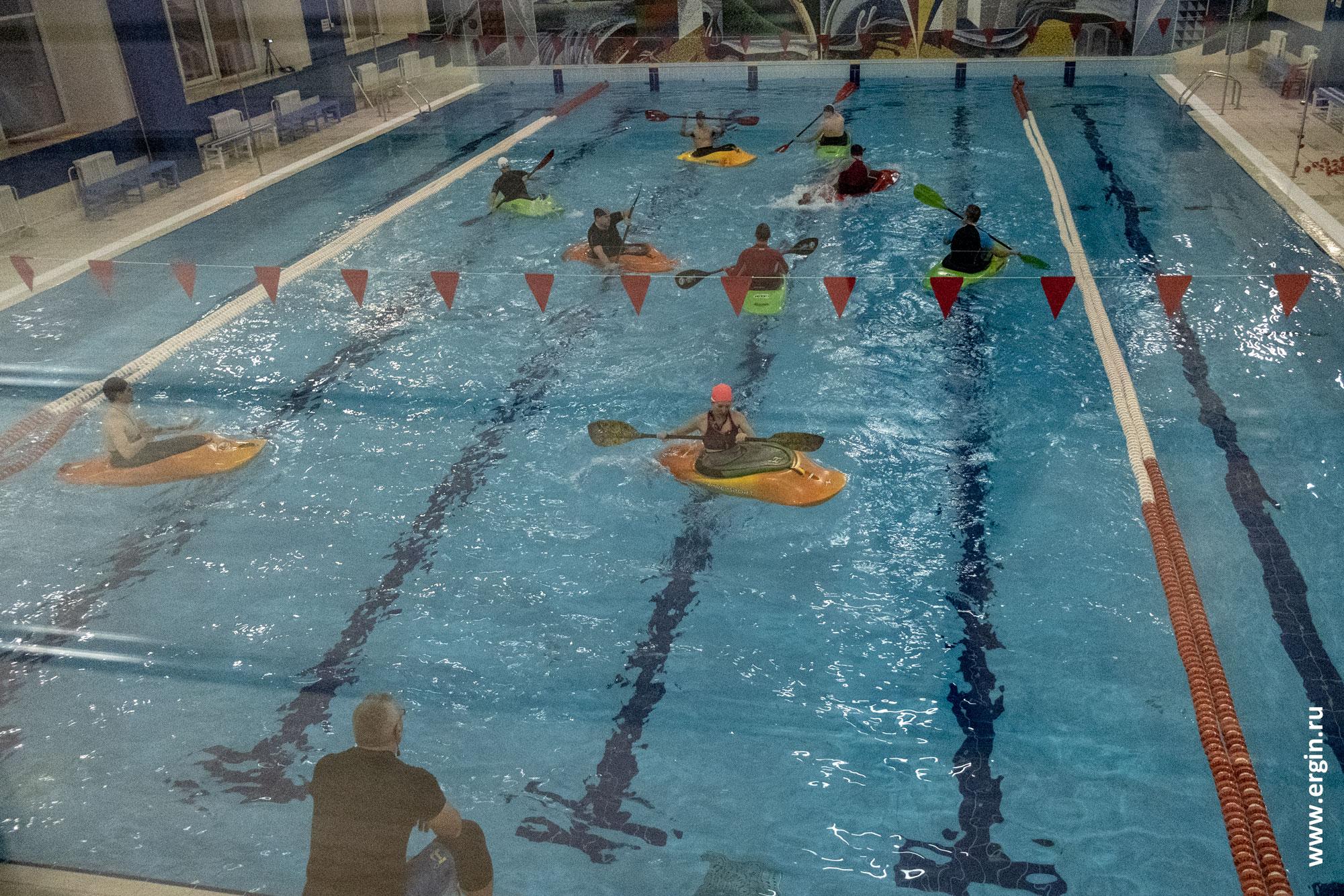 Тренировки по каякингу в Новосибирске для начинающих в бассейне