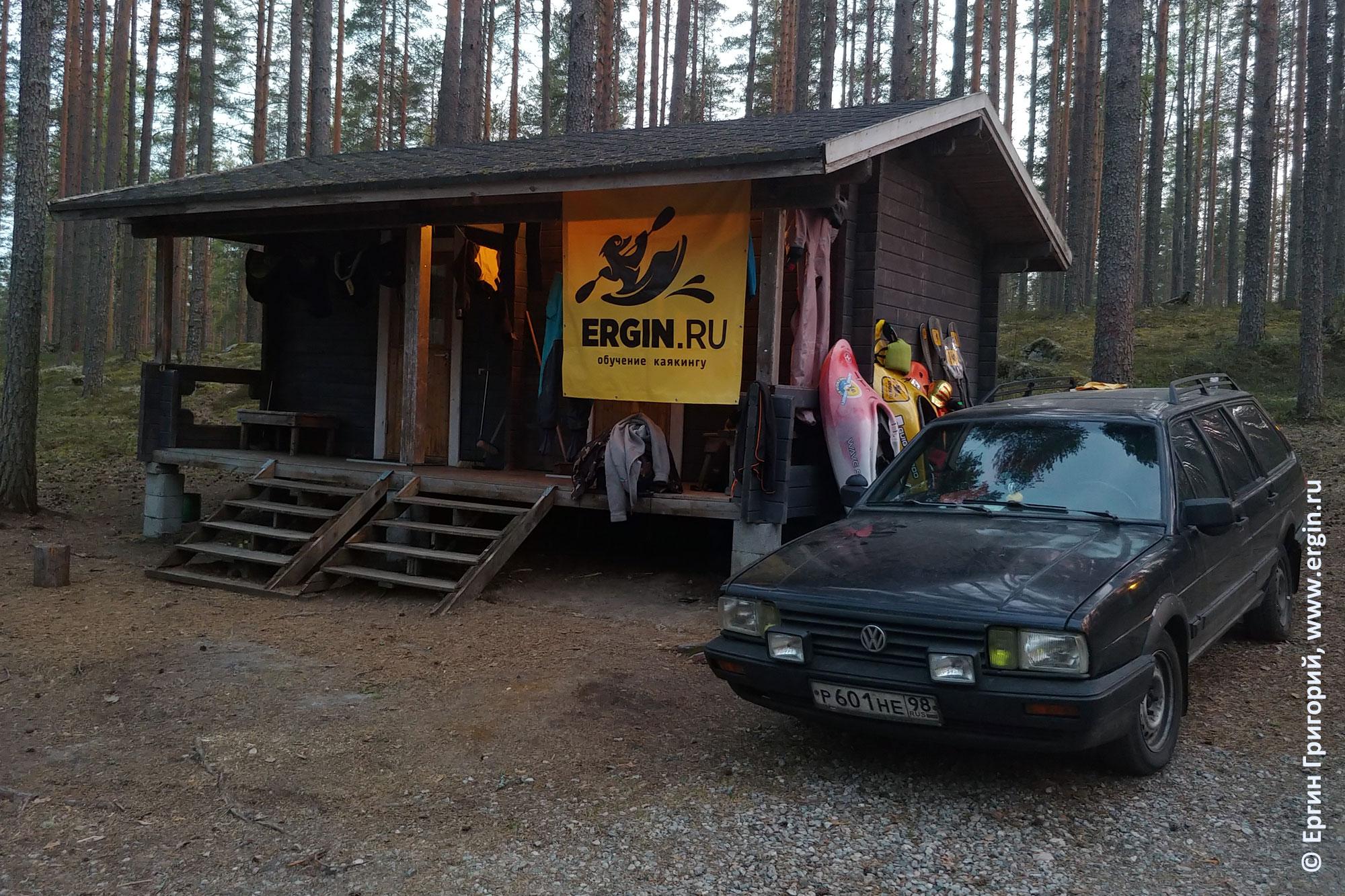 Домик в кемпинге Нейтикоски недалеко от Лиексы Финляндия
