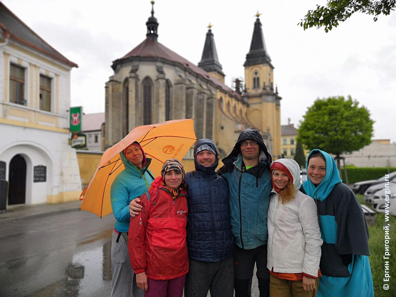 Роуднице церковь и каякеры