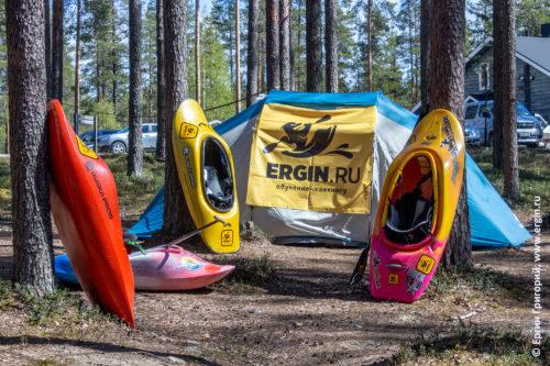 Каякинг в Финляндии Лиекса кемпинг Нейтикоски лагерь палатка каяки