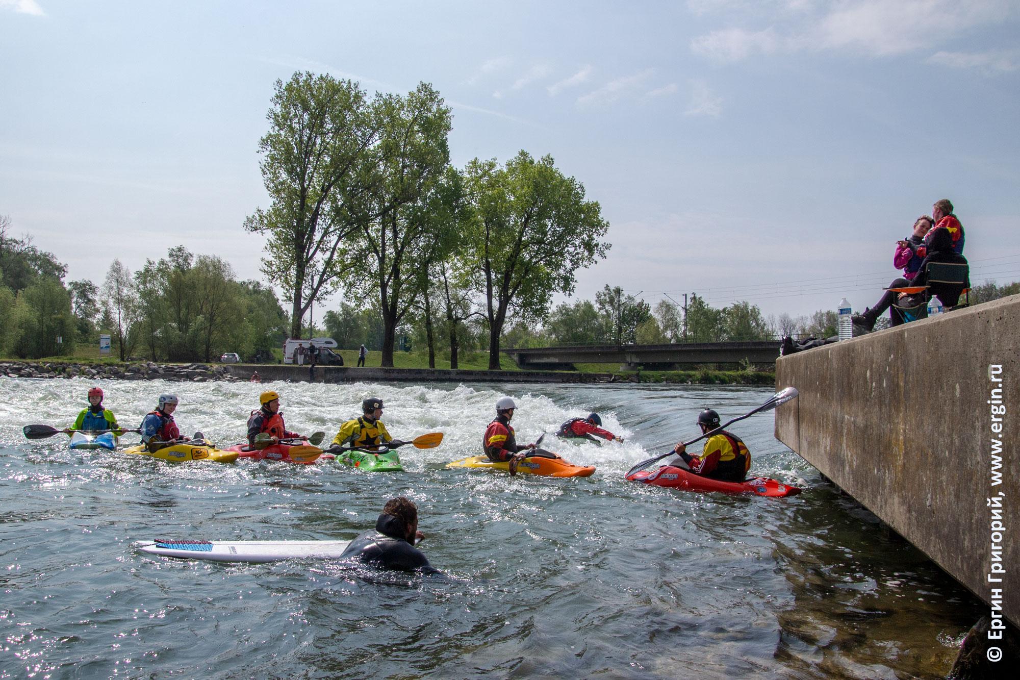 Plattling плейспот в Германии городке Платтлинг фристайл на бурной воде