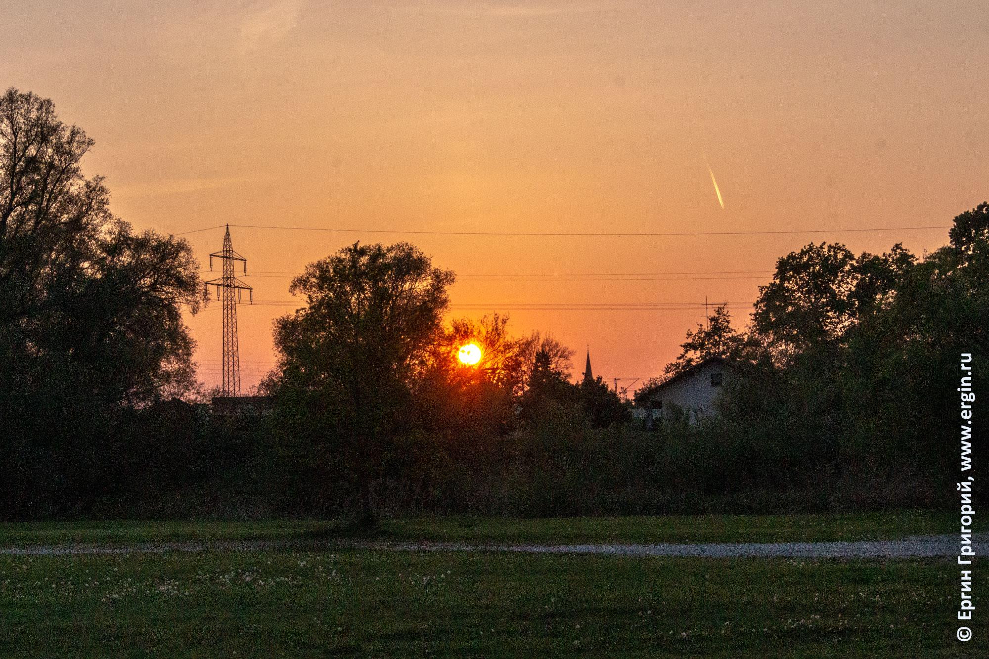 Закат в Платтлинге