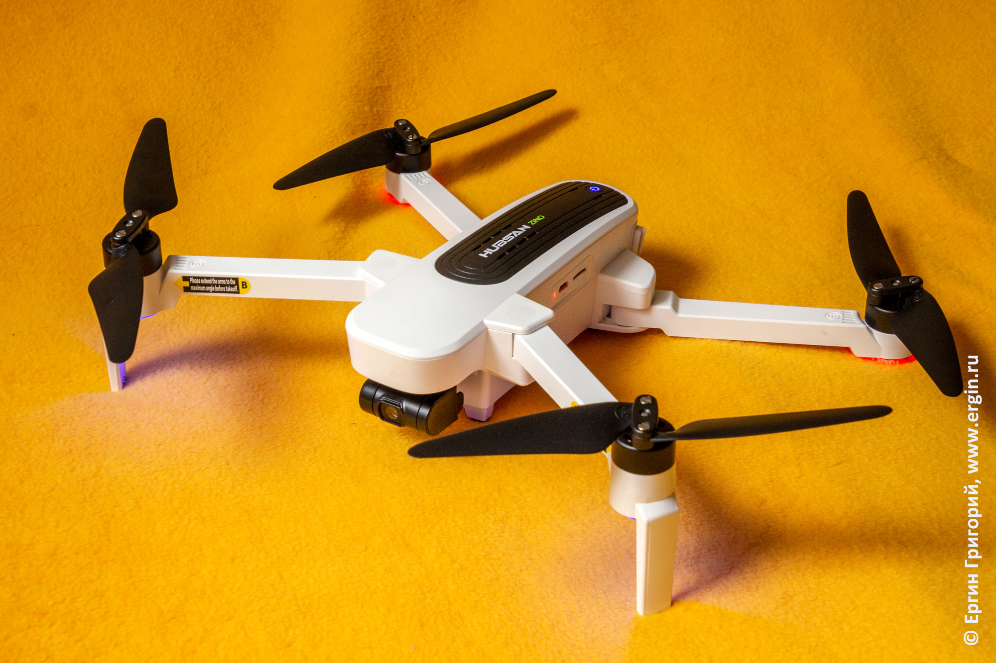 Обзор квадрокоптера дрона Hubsan Zino H117S