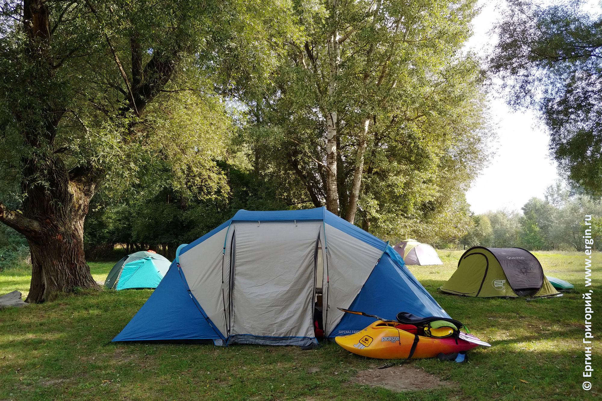 Лагерь каякеров в Германии Платтлинге