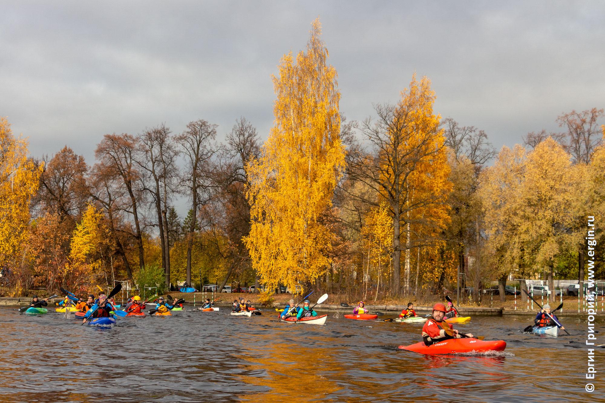 Осенняя прогулка каякеров СПб река Крестовка