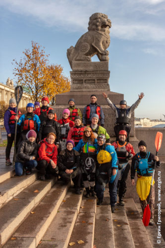 Закрытие каякерского сезона в Санкт-Петербурге старт от Ши-цза