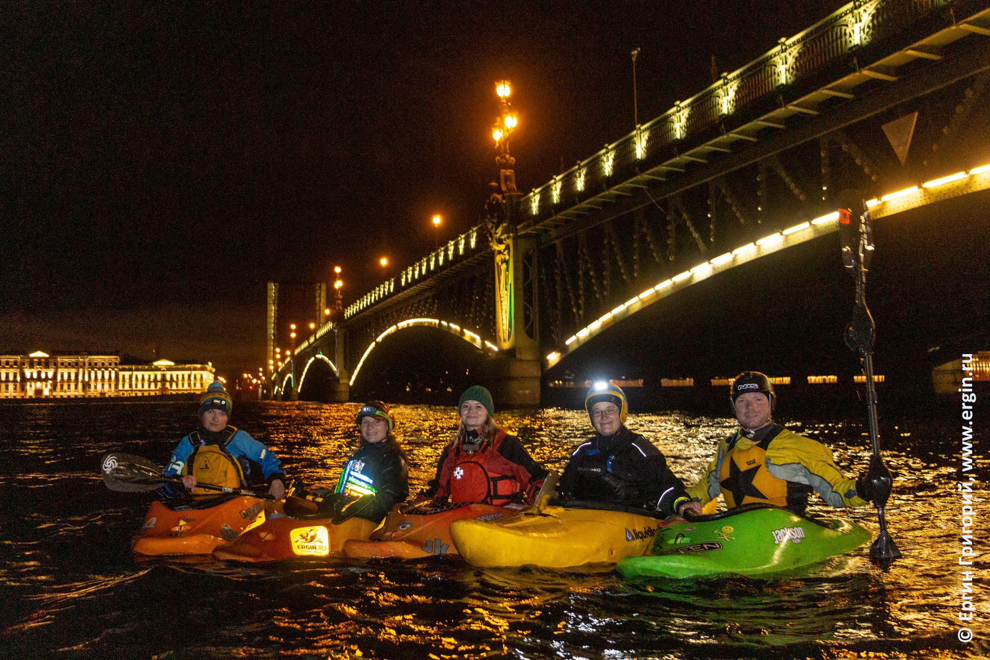 Санкт-Петербург каякинг на Неве под Троицким мостом