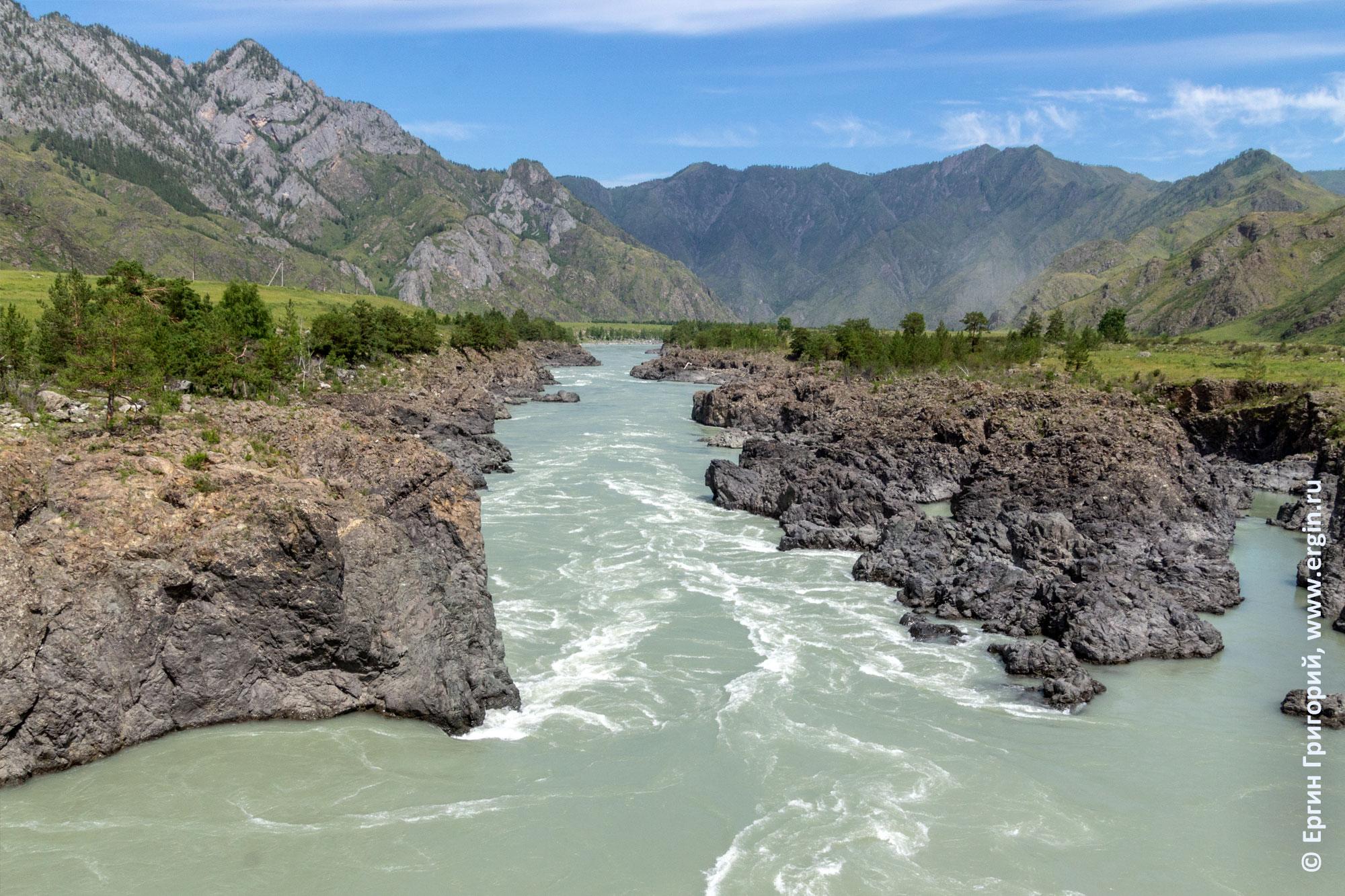 Порог Пни река Катунь Алтай