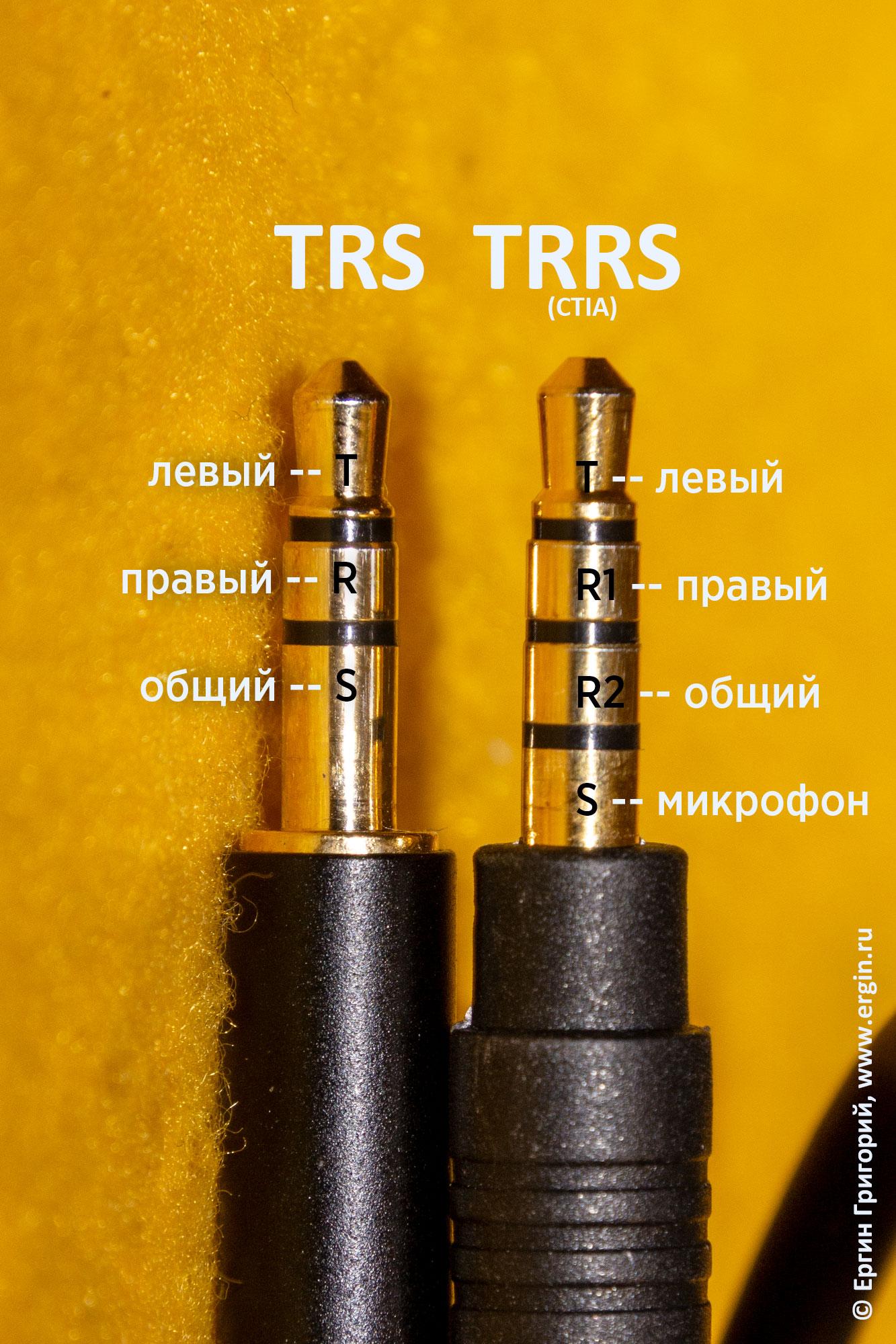 Разъемы джек jack 3,5 мм распайка контактов для наушников(TRS) и смартфона (TRRS)