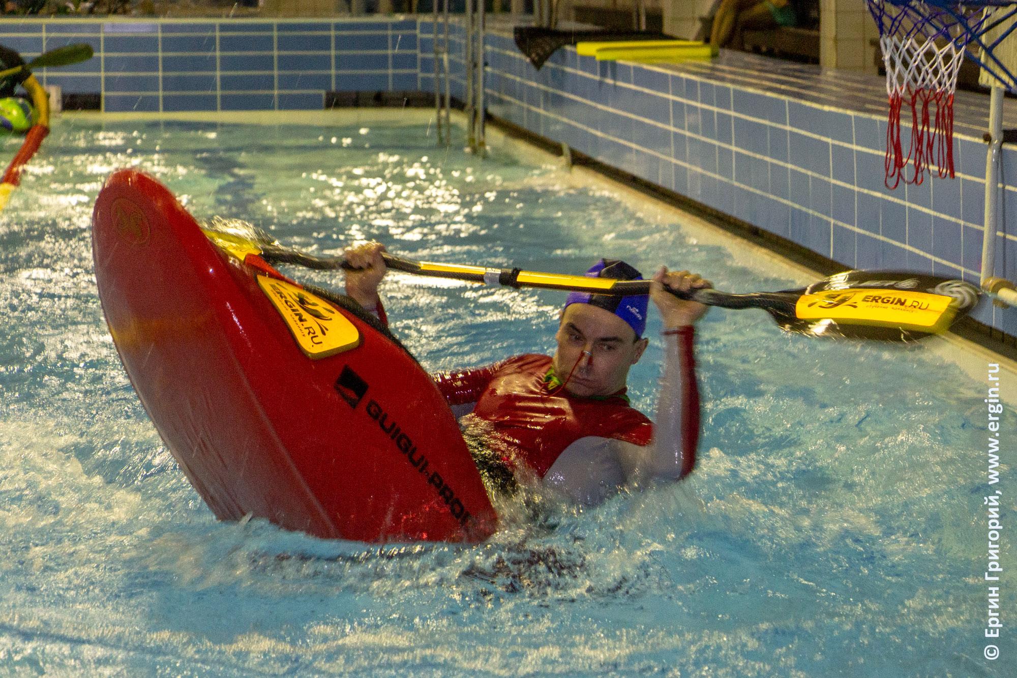 Фристайл-каякинг в бассейне в Санкт-Петербурге