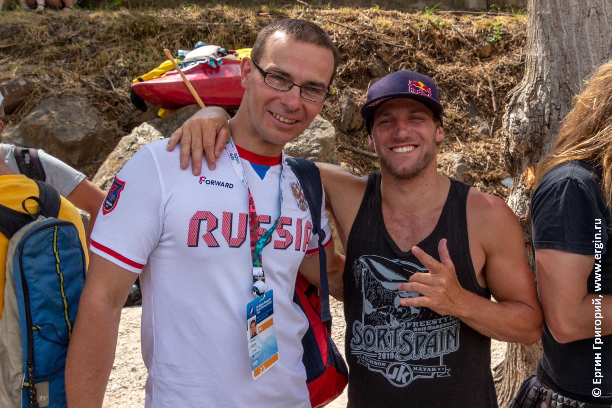 Вместе с Дейном Джексоном на Чемпионате Мира по фристайл-каякингу в Сорте