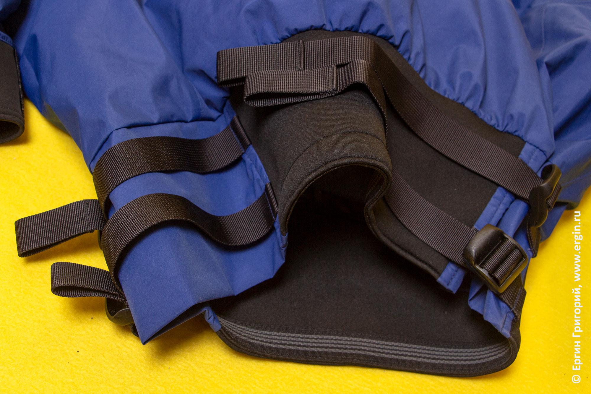 Устройство фиксации юбки под поясом куртки каякера