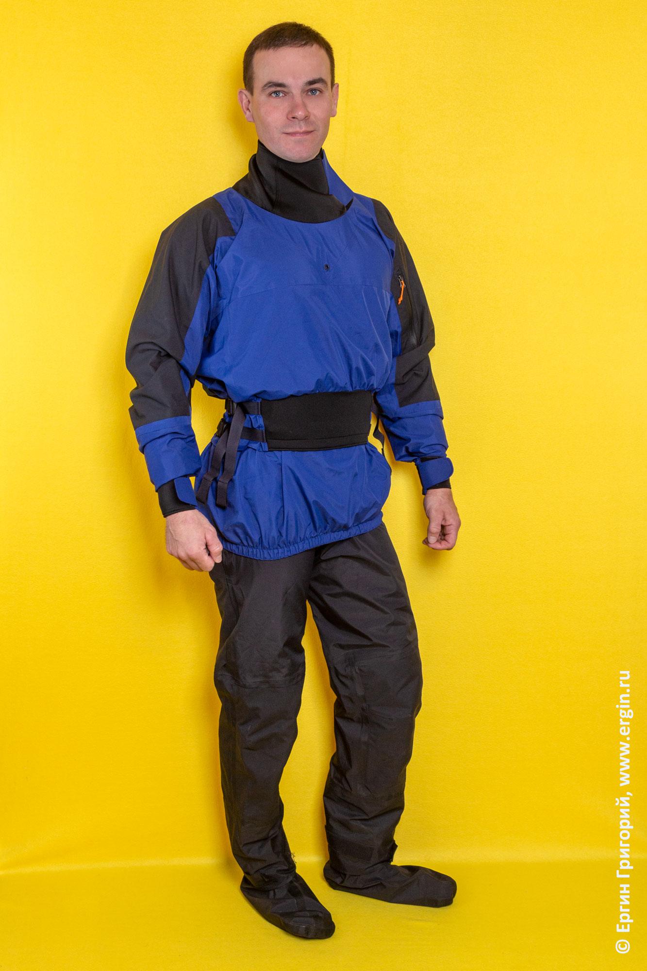 Универсальный набор сухой одежды для каякера: сухая куртка и штаны