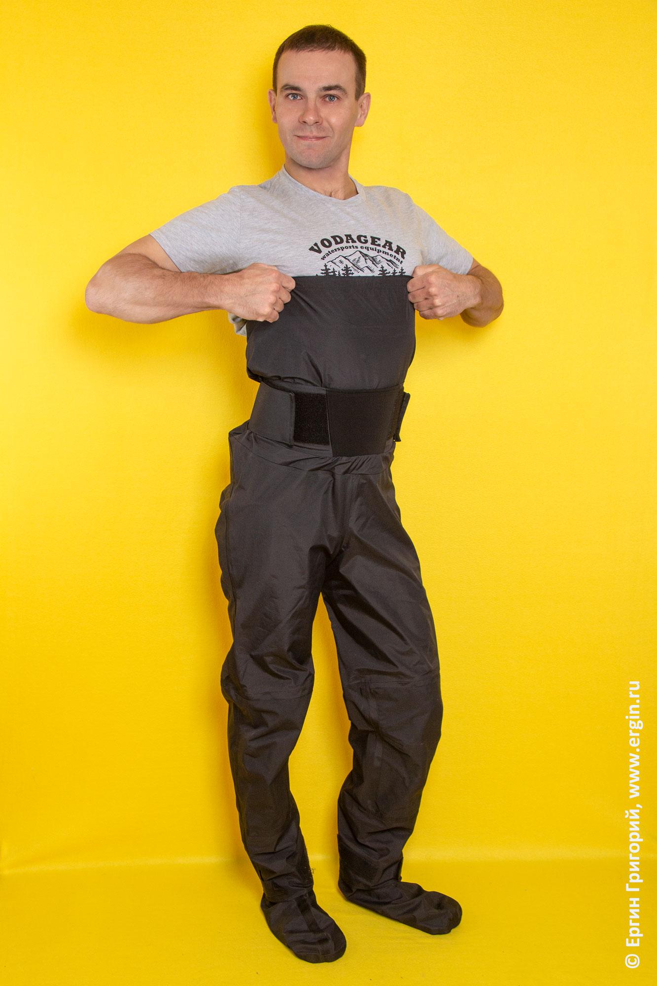 Сухие штаны для каякинга Спрут от VodaGear