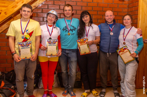 Победители соревнований по фристайл-каякингу в Перми