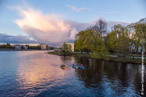 Санкт-Петербург - закат и каяки