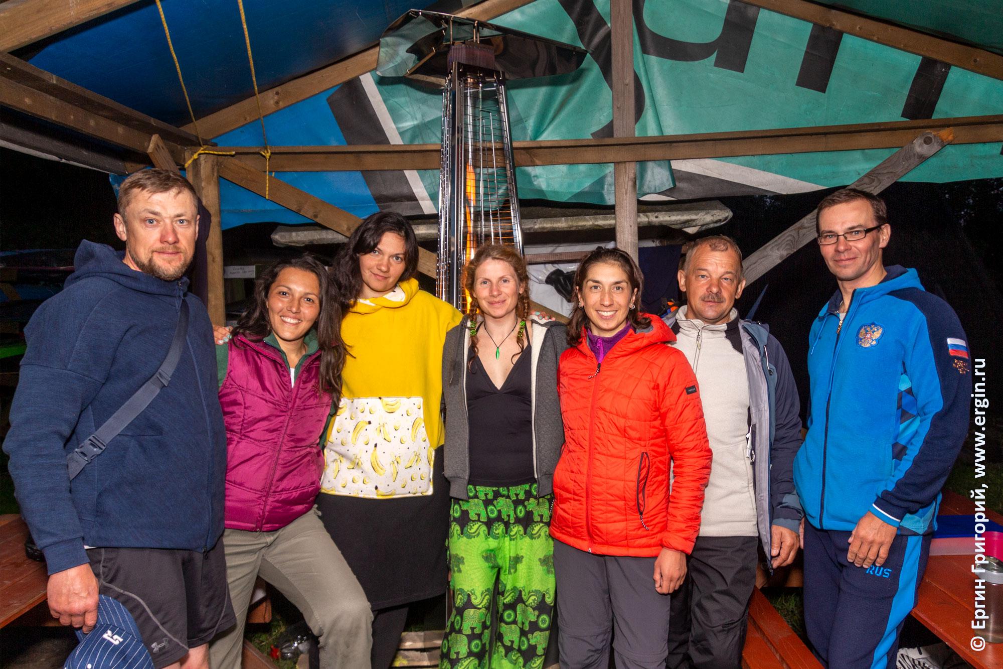 Участники тренировочных сборов в Лосево для начинающих каякеров