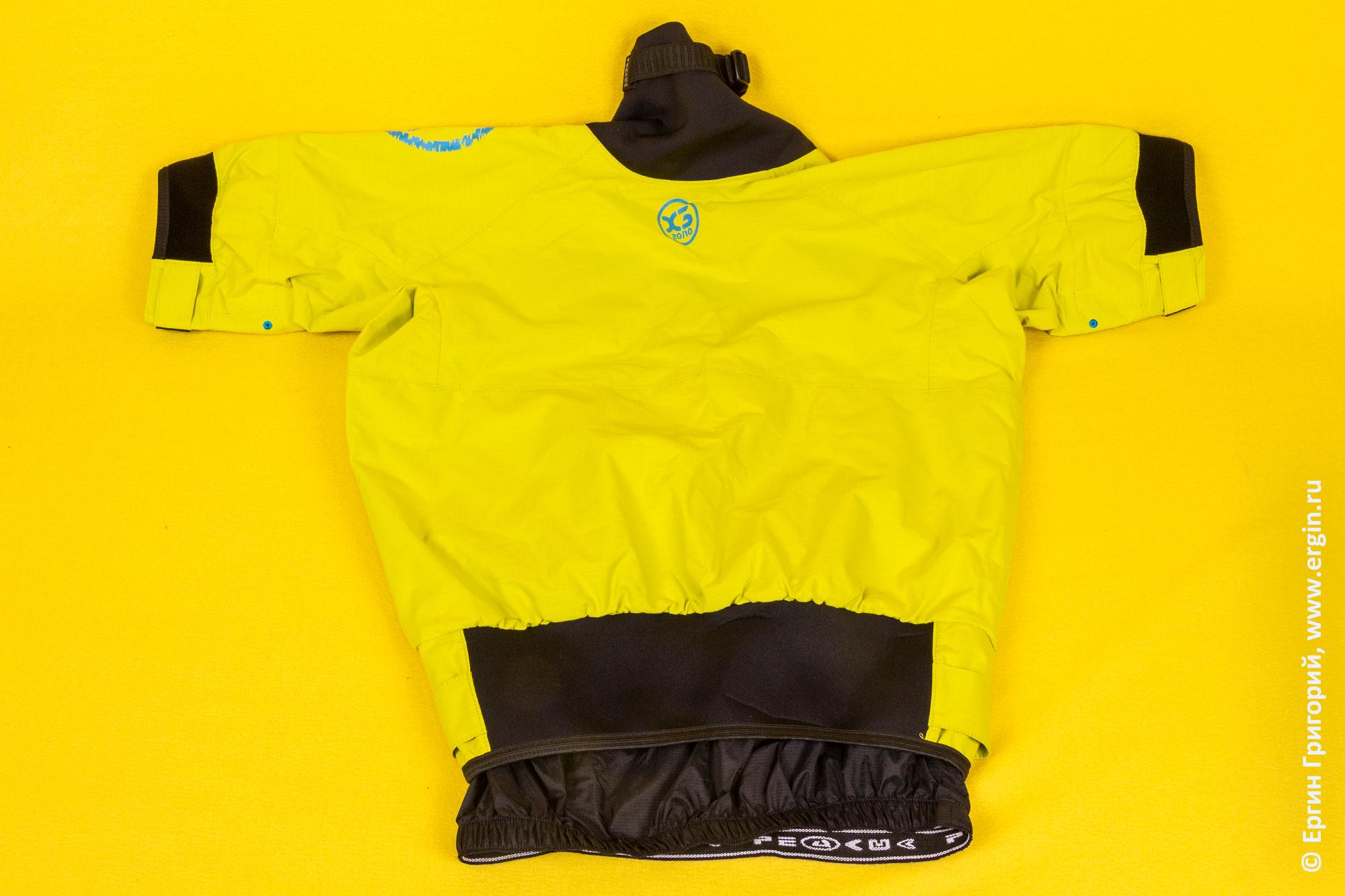 Куртка каякера PeakUk Combi с коротким рукавом, вид сзади
