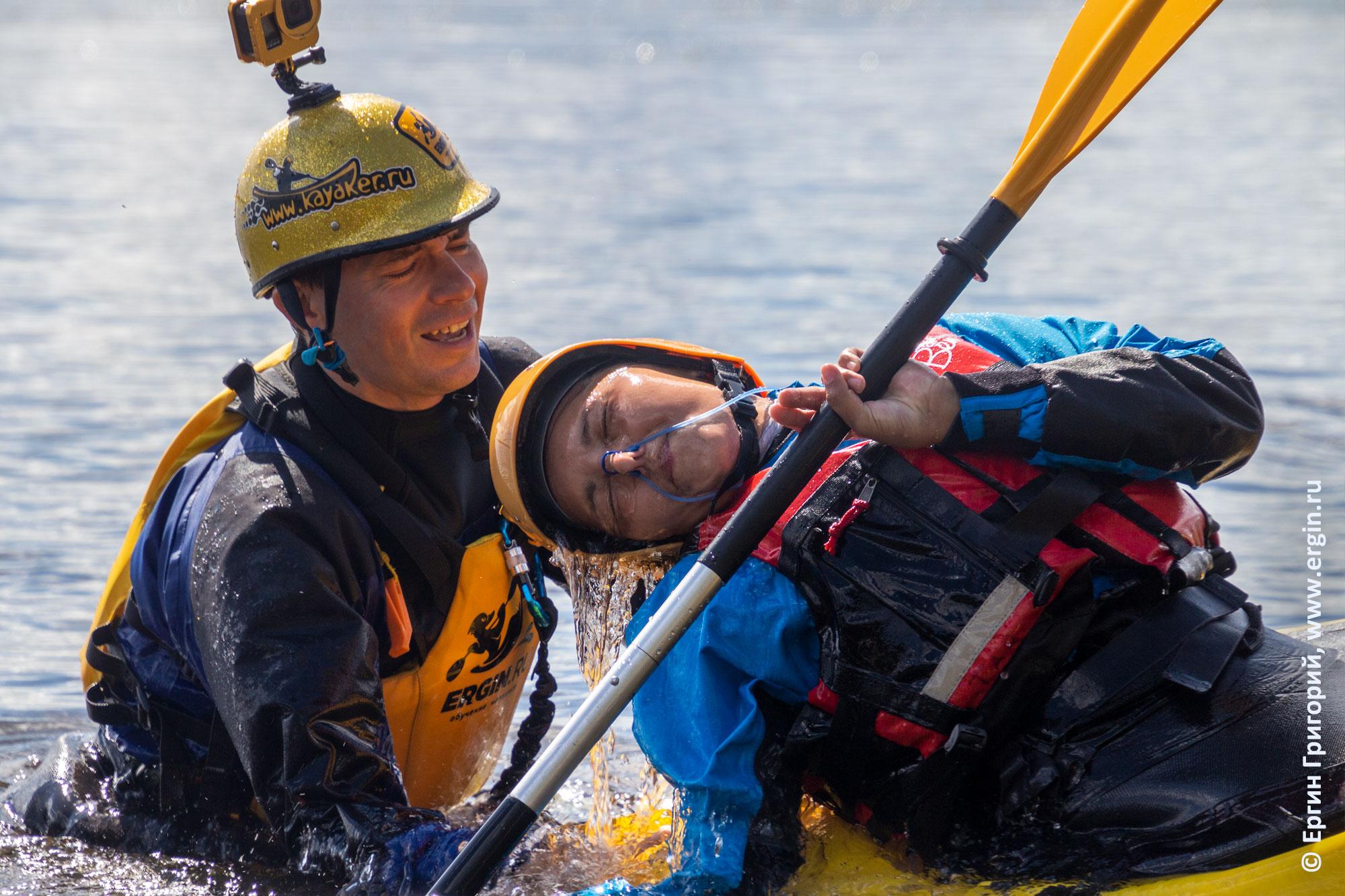 Занятия по эскимосскому перевороту с инструктором