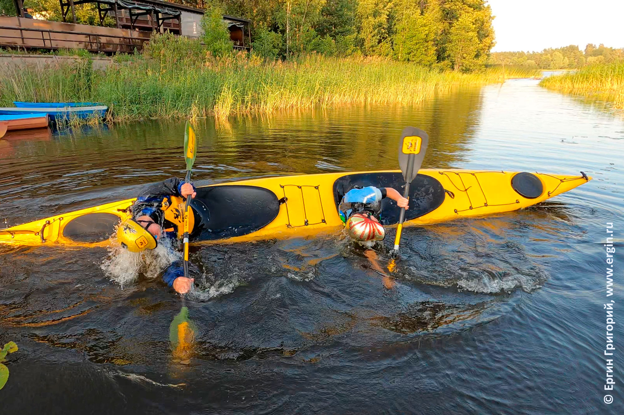Эскимосский переворот на байдарке Байдарка Tahe Marine Lifestyle Duo