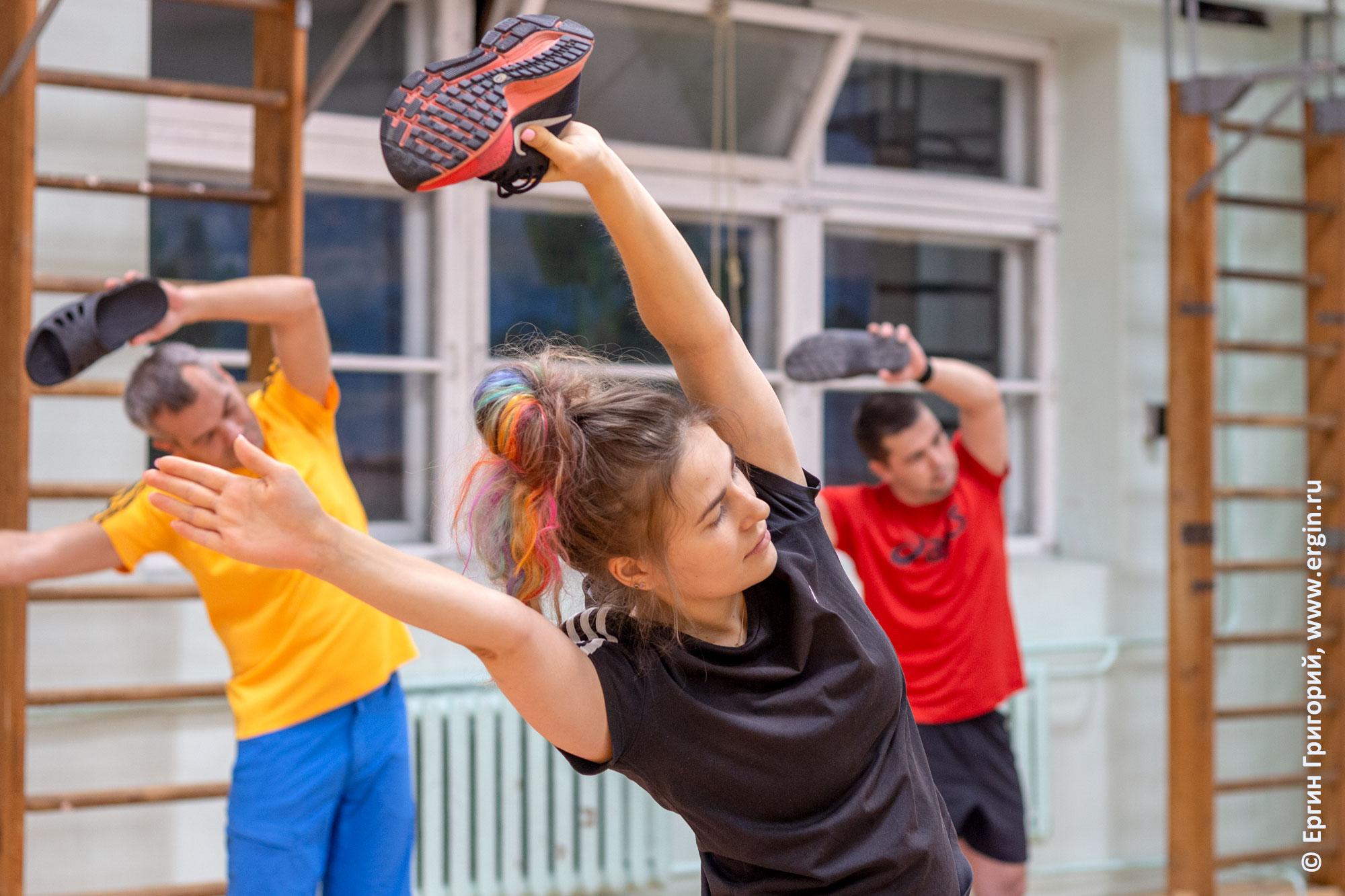 Упражнения для вставания на каяке от подвижной опоры