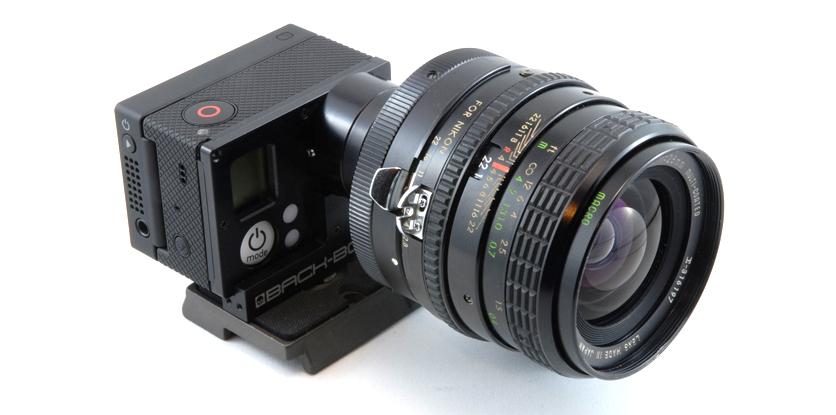 Экшн-камера Gorpo с объективом от фотоаппарата