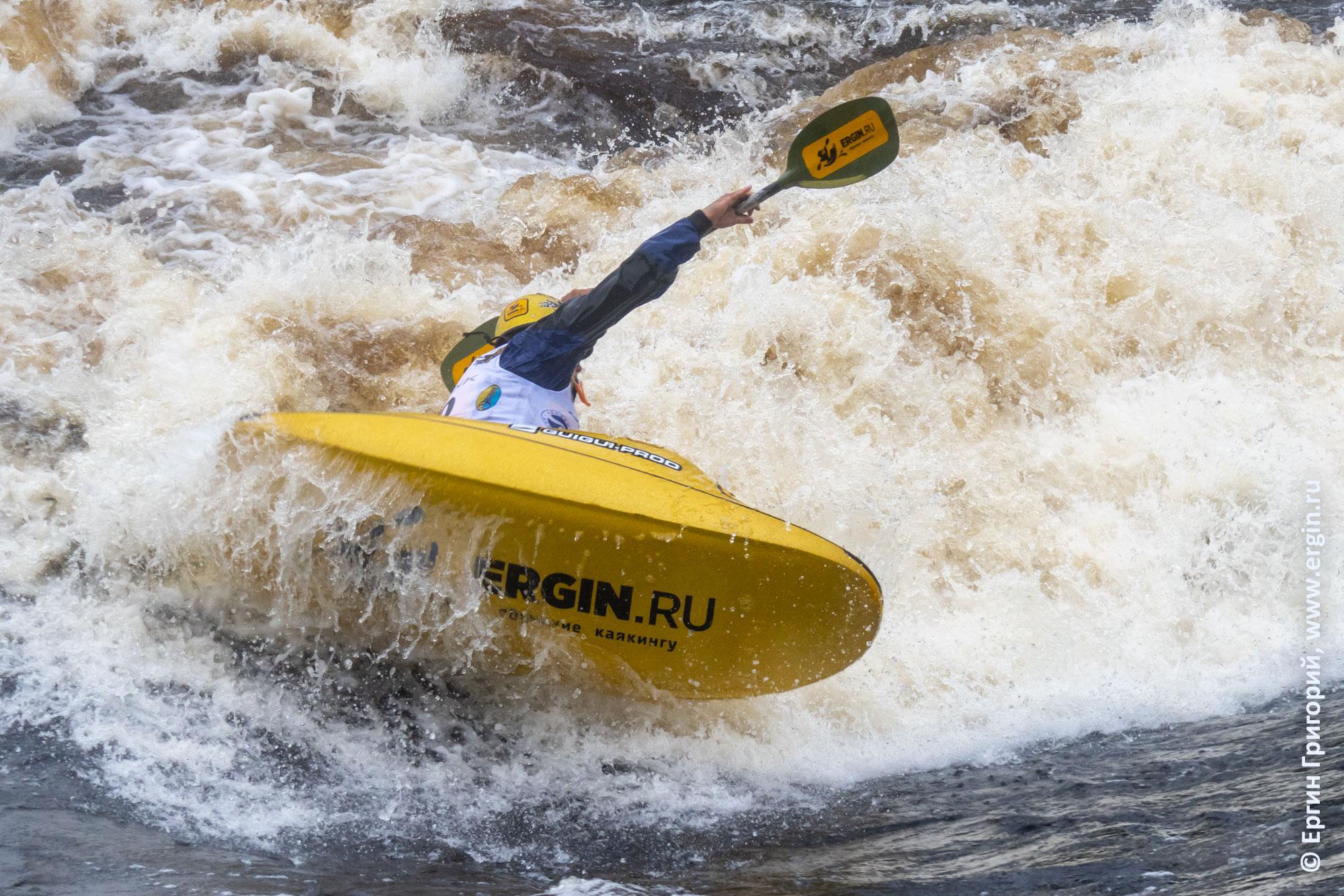 Ергин Григорий, выступление на Чемпионате России по фристайлу на бурной воде