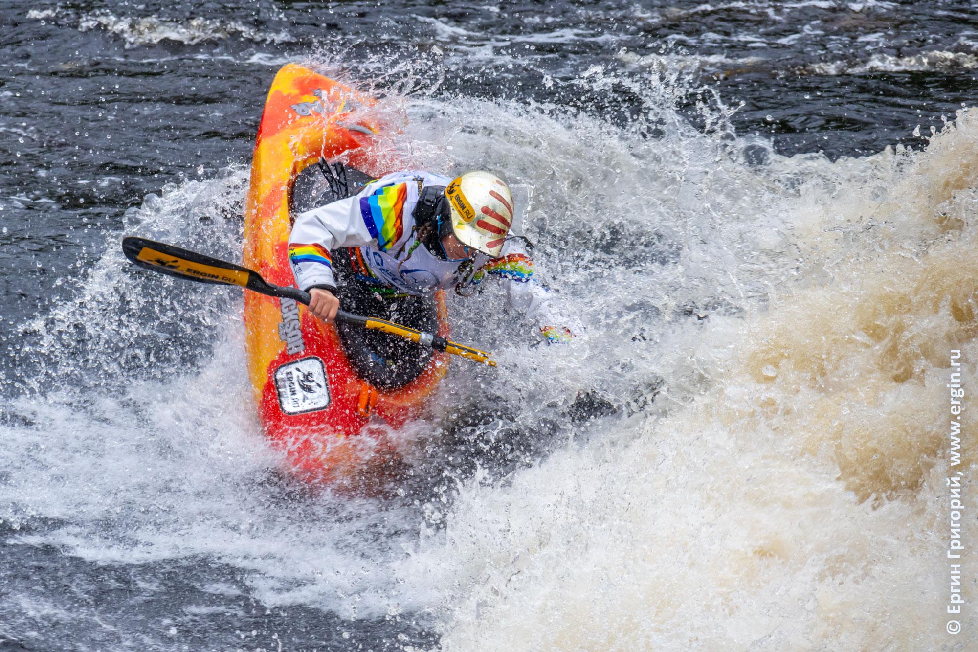 Алия Бадьина, выступление на Чемпионате России по фристайлу на бурной воде