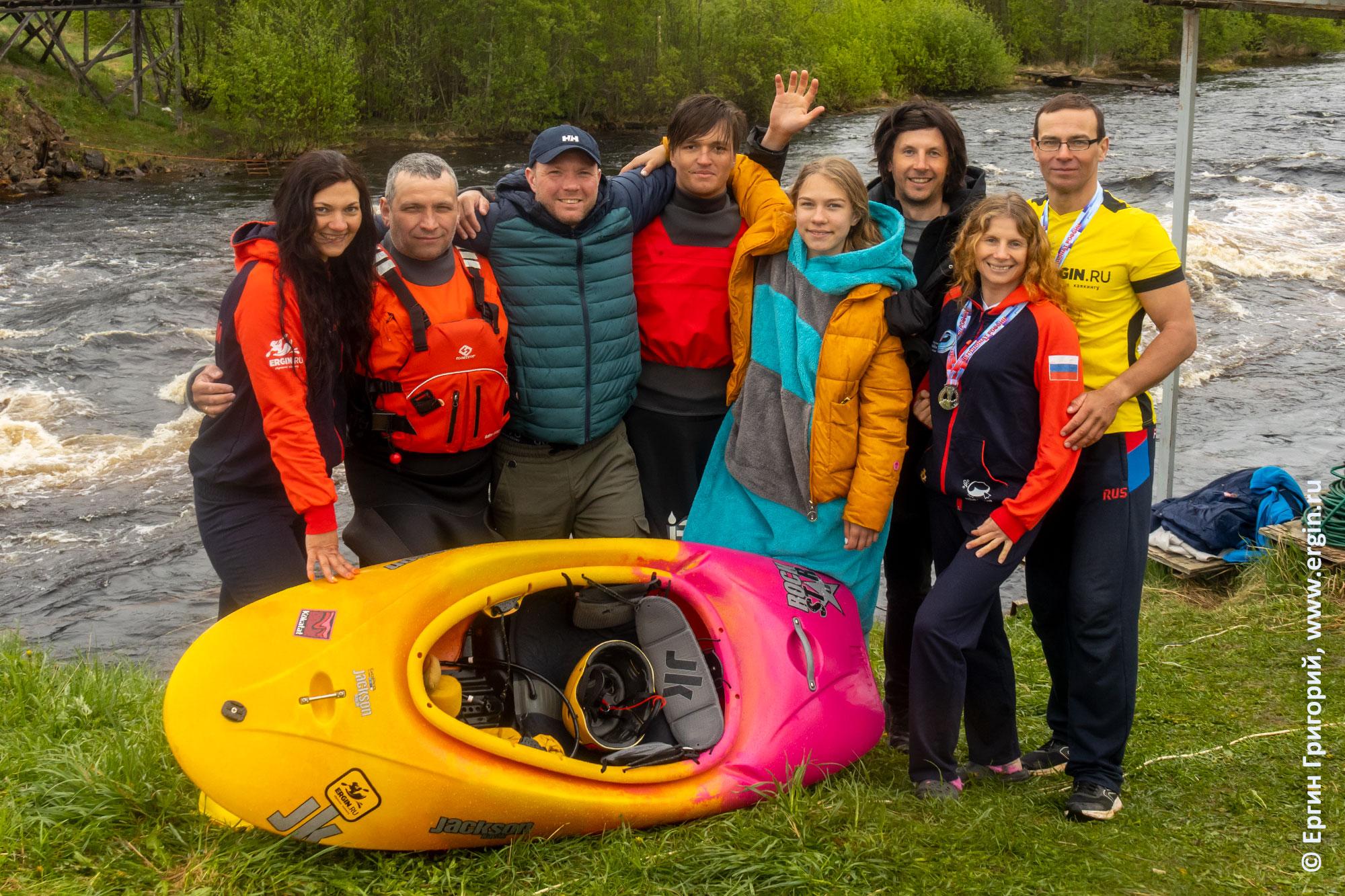 Участники вторых тренировочных сборов по фристайлу на бурной воде в Тивдии 2021