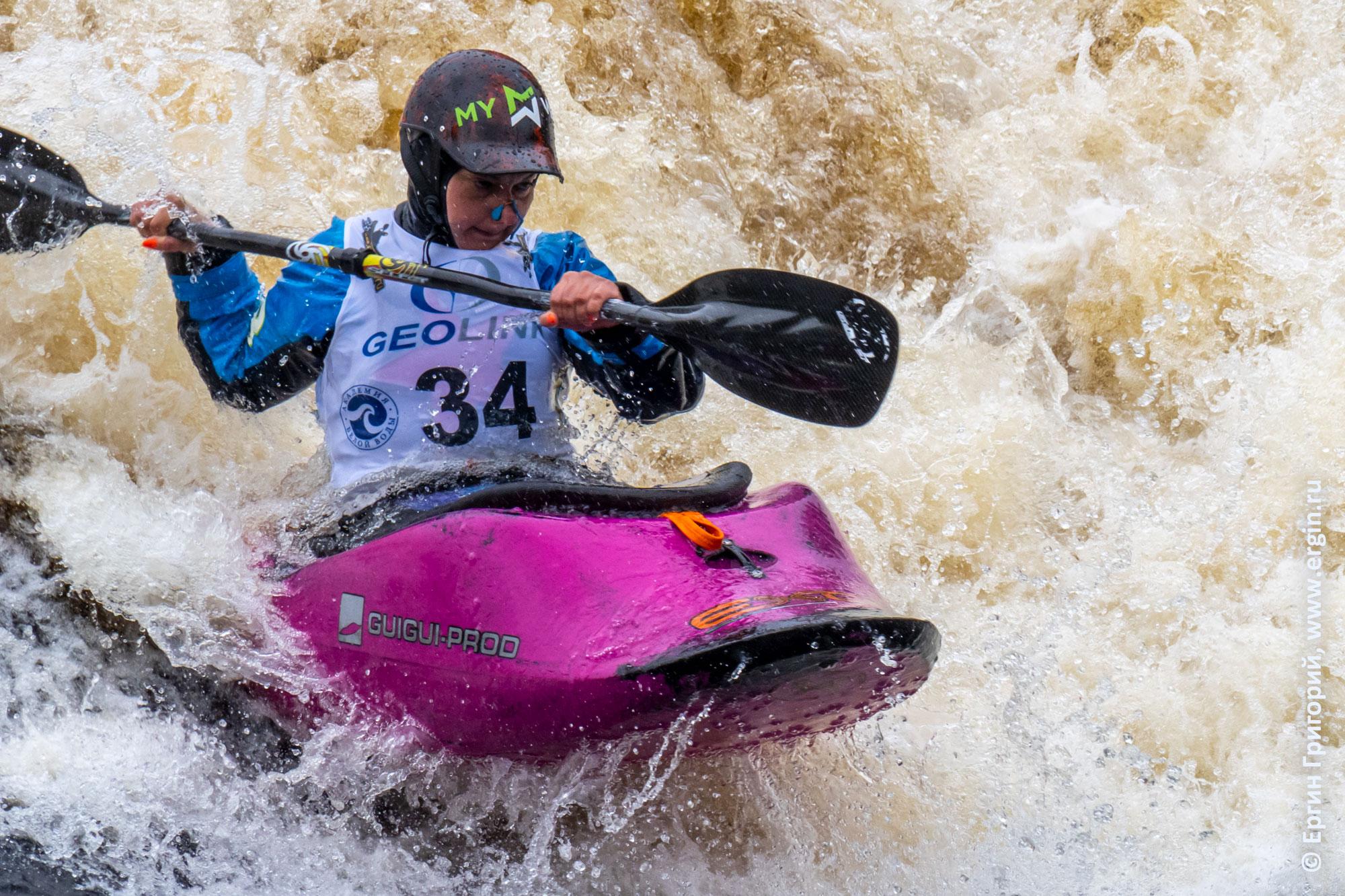 Любовь Рулева, выступление на Чемпионате России по фристайлу на бурной воде