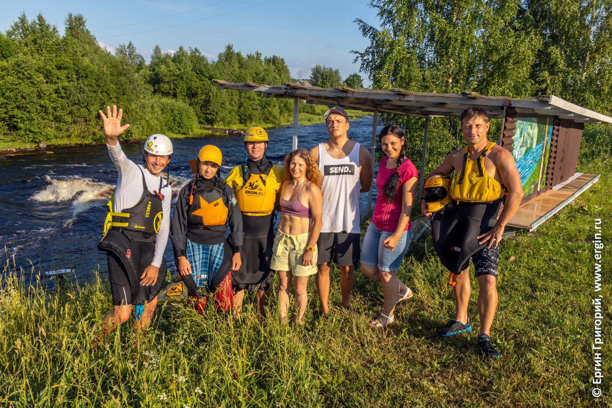 Участники 4-х сборов в Тивдии по фристайлу на бурной воде
