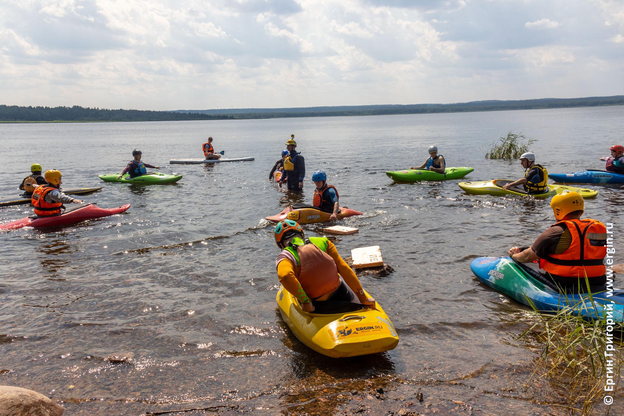 Практические занятия по эскимосскому перевороту на воде